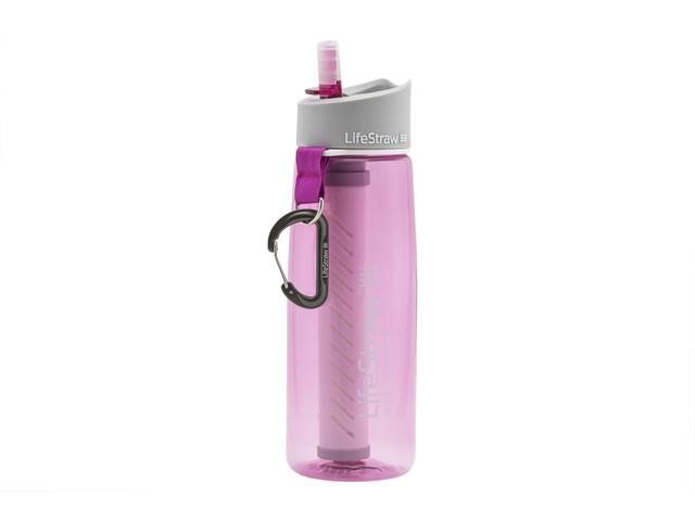 LifeStraw Go 2-Stage Juomapullo Vedensuodattimella, pink